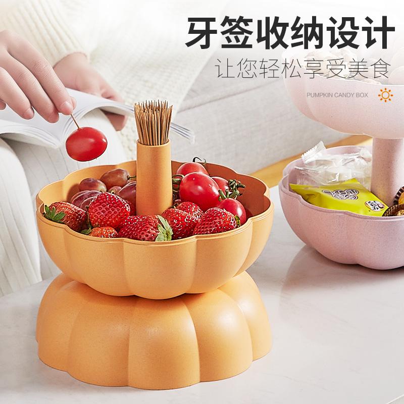 安雅 创意客厅家用南瓜水果盘
