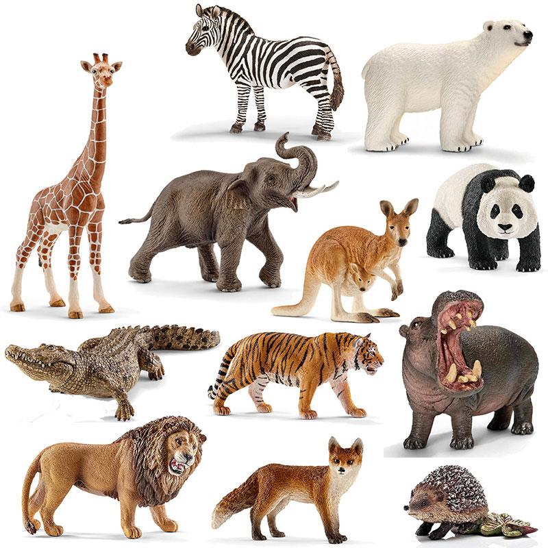 德国思乐仿真动物模型玩具套装 大象鳄鱼斑马金刚大猩猩