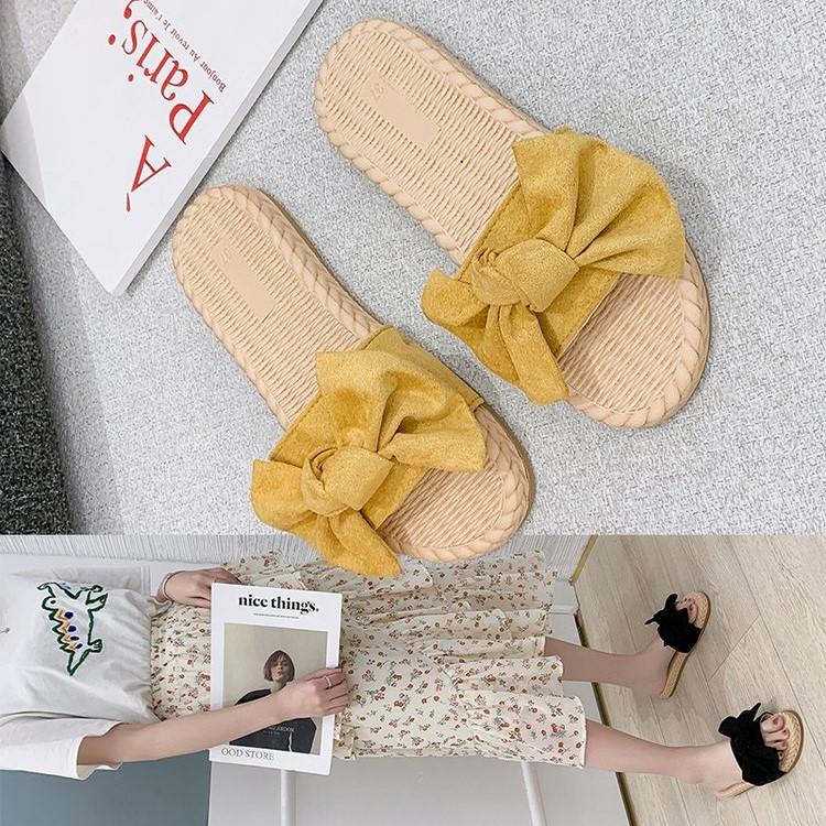 妮西蝶女外穿 年新款夏季网红超火时尚百搭小雏菊蝴蝶凉拖鞋  2020