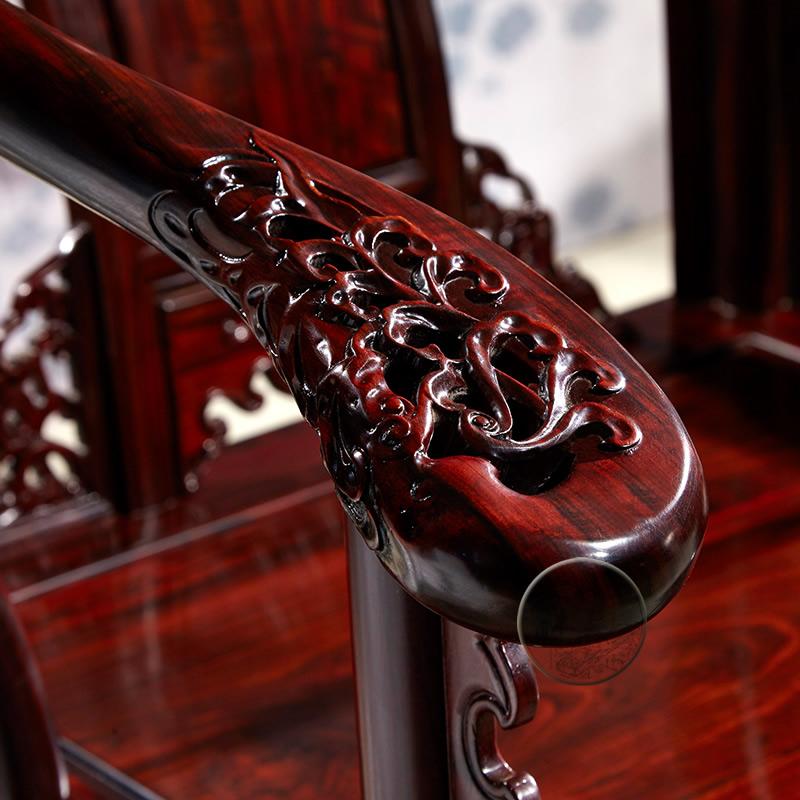 王木匠 新品东非酸枝皇宫椅圈椅太师椅三件套 红木家具中式仿古