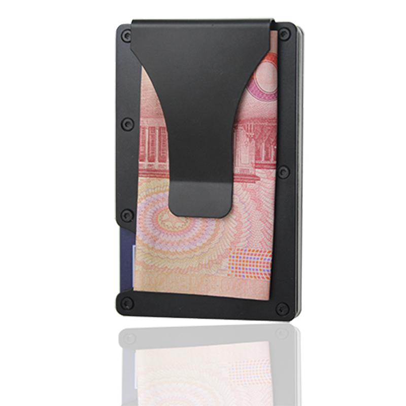 国货精品风靡欧美金属未来钱包男士卡夹银行卡包不锈钢钱夹防盗刷
