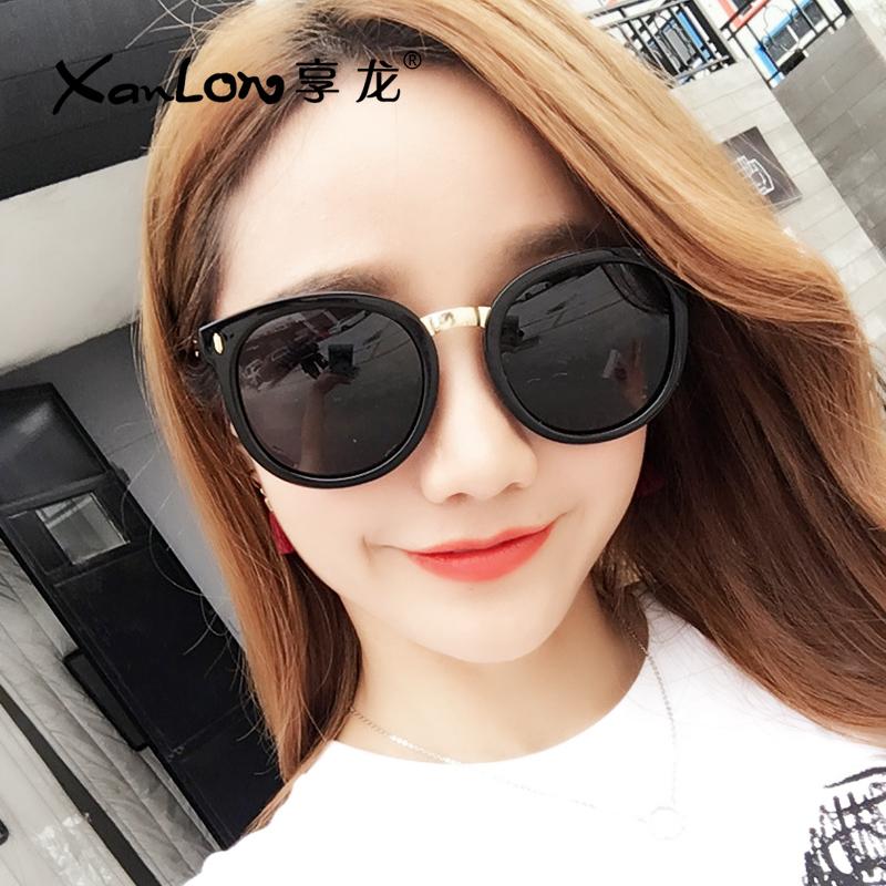 墨镜女2018新款潮偏光太阳镜女圆脸网红明星款眼镜防紫外线眼睛