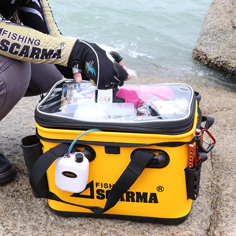 澳仕瑪釣魚箱多功能筏釣裝備工具箱加厚eva活魚桶 2019新款路亞箱