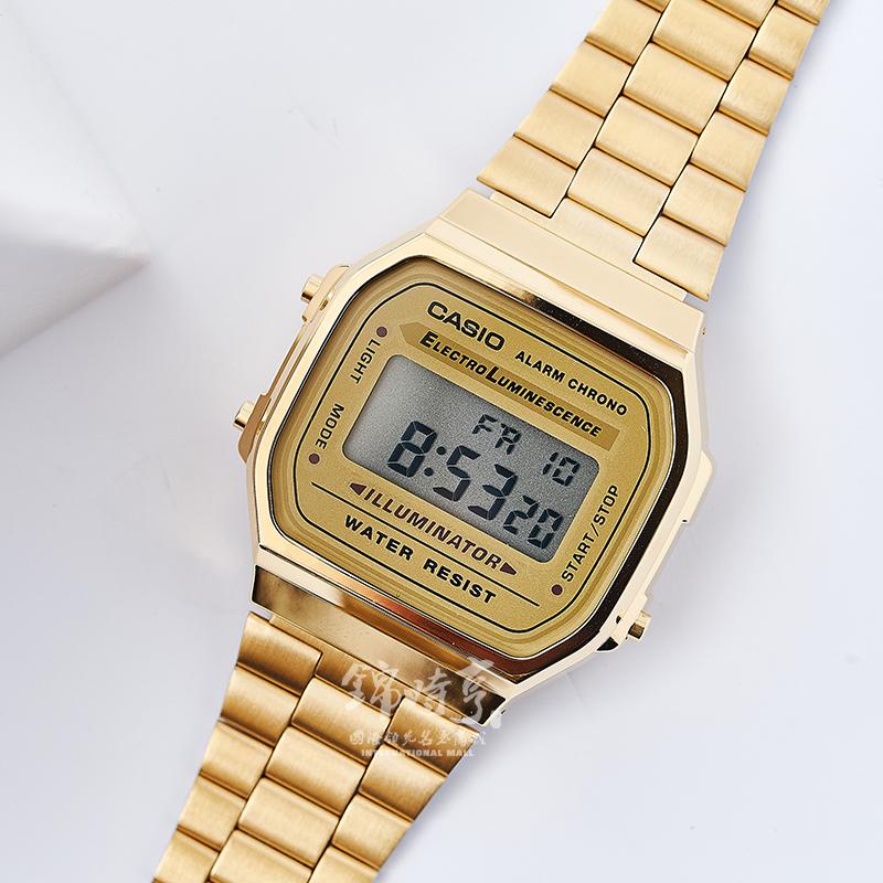 手表运动休闲小金表不锈钢男表 9W 手表运动休闲小金表不锈钢男表 casio 香港直邮 卡西欧