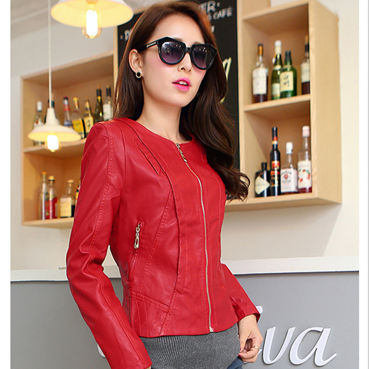 2017 Winter Pu Leather Jacket Autumn Coat For Women Jackets