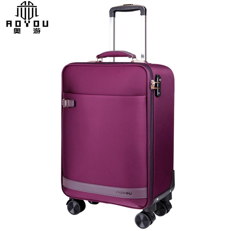 寸商务登机箱包子母箱 20 奥游万向轮拉杆箱牛津布行李箱男女旅行箱