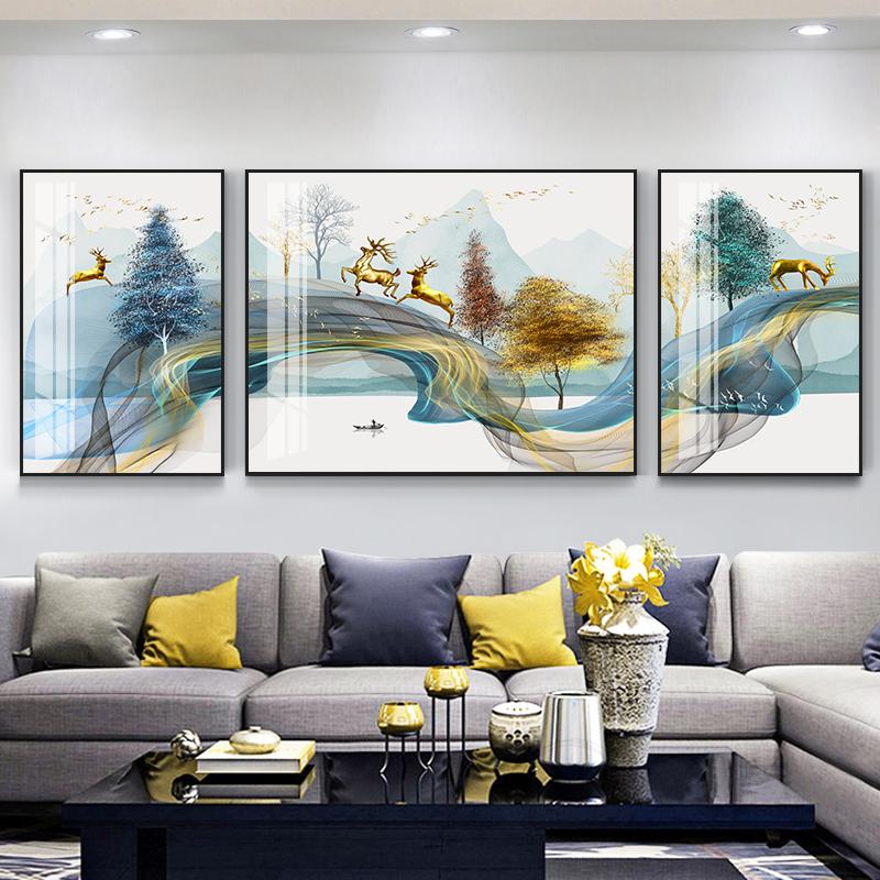 客廳裝飾畫沙發背景墻畫壁畫臥室掛畫北歐風格簡歐墻面畫裝飾畫