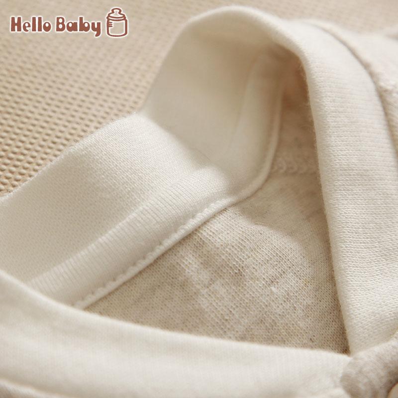 婴儿对开扣襟长袍春装插肩袖睡袍男女宝宝家居袍纯棉秋季儿童睡衣