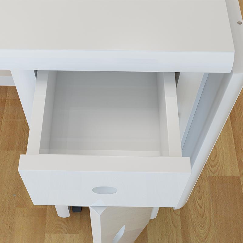 可伸缩折叠餐桌椅组合4人6人简约现代白色小户型餐桌长方形饭桌子