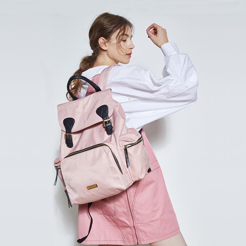 嫚熙妈咪包2019新款时尚多功能大容量妈妈包母婴包轻便外出双肩包