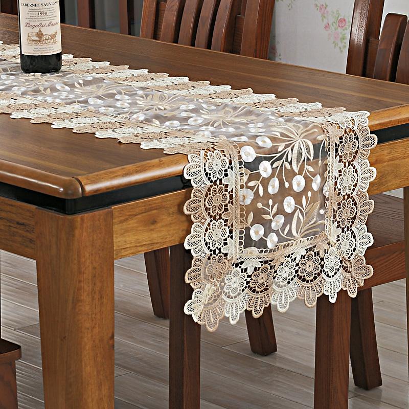 歌兰朵蕾丝桌布桌旗刺绣餐桌布茶几布盖巾镂空酒柜巾电视柜巾台布