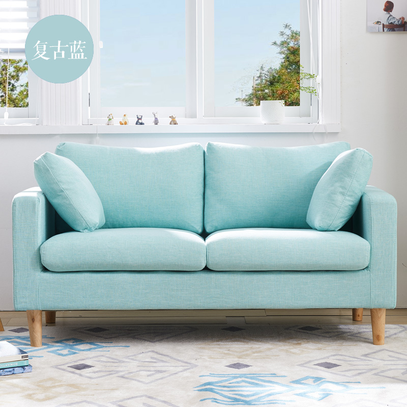 双人沙发小户型两人二三人位客厅房间卧室现代简约北欧布艺小沙发