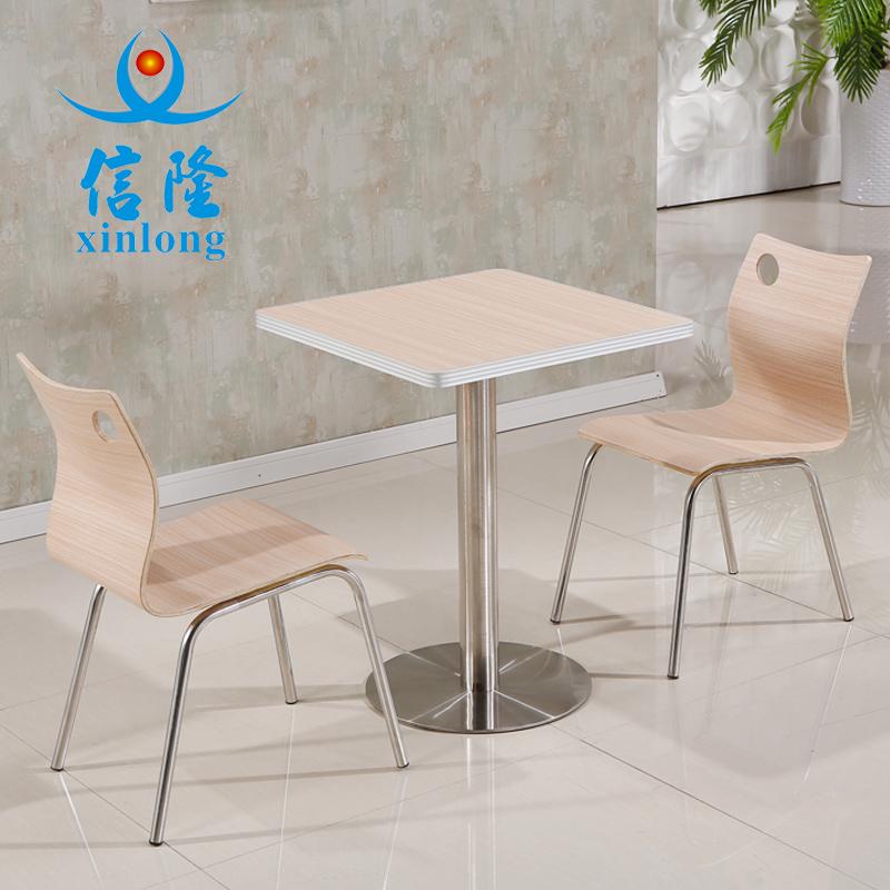 简约快餐桌椅分体组合