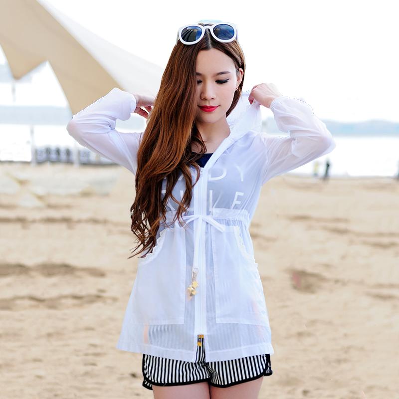 2019夏季新款防晒衣女中长款轻薄透气韩版潮长袖上衣外套