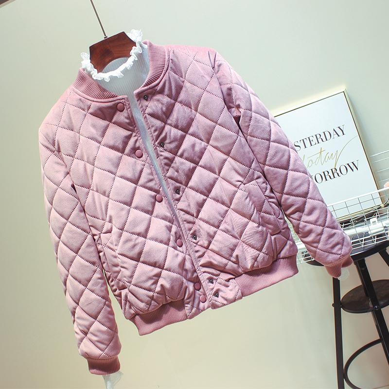 金丝绒轻薄棉衣女2020冬季新款潮韩版小个子棉服外套反季短款棉袄主图