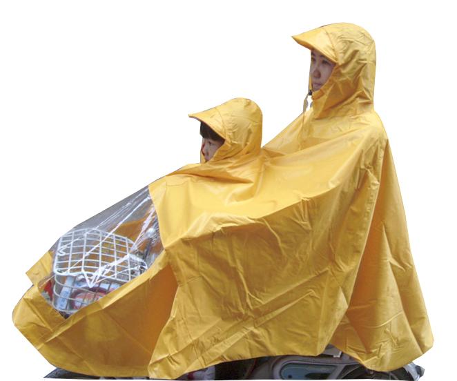 【天天特价】母子雨衣电动车自行车加大加肥雨披双人雨衣摩托车加