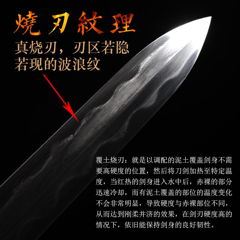 龙泉拙匠宝剑十二生肖剑花纹钢硬剑刀剑兵器清剑锰钢高硬度未开刃