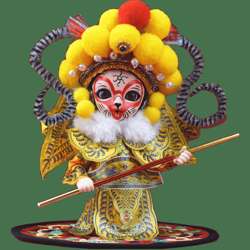 中国北京传统特色礼单位出国京剧玩偶摆件绢人娃娃外事礼品送礼