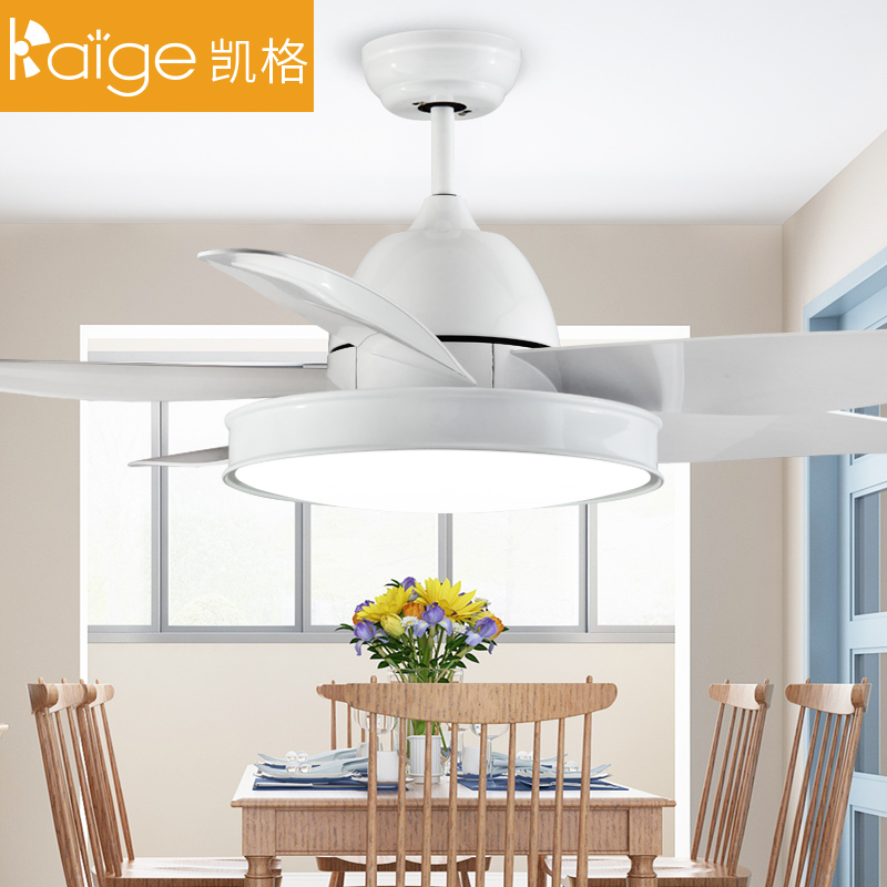 北欧家用现代简约餐厅吊扇灯卧室变频静音大风扇灯客厅带风扇的灯