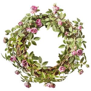 掬涵 安格斯缠绕玫瑰藤蔓 仿真花藤月蔷薇 墙面垂吊花艺造景装