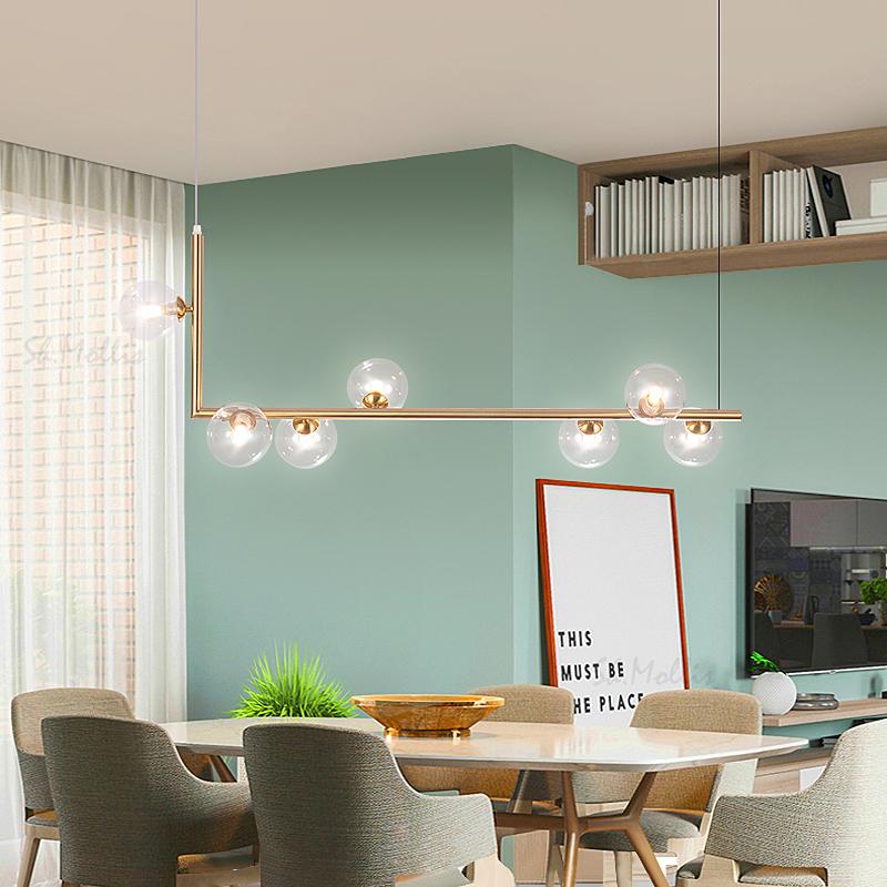 长条灯创意餐桌灯极简店铺吧台网红灯饰 led 北欧餐厅吊灯现代简约
