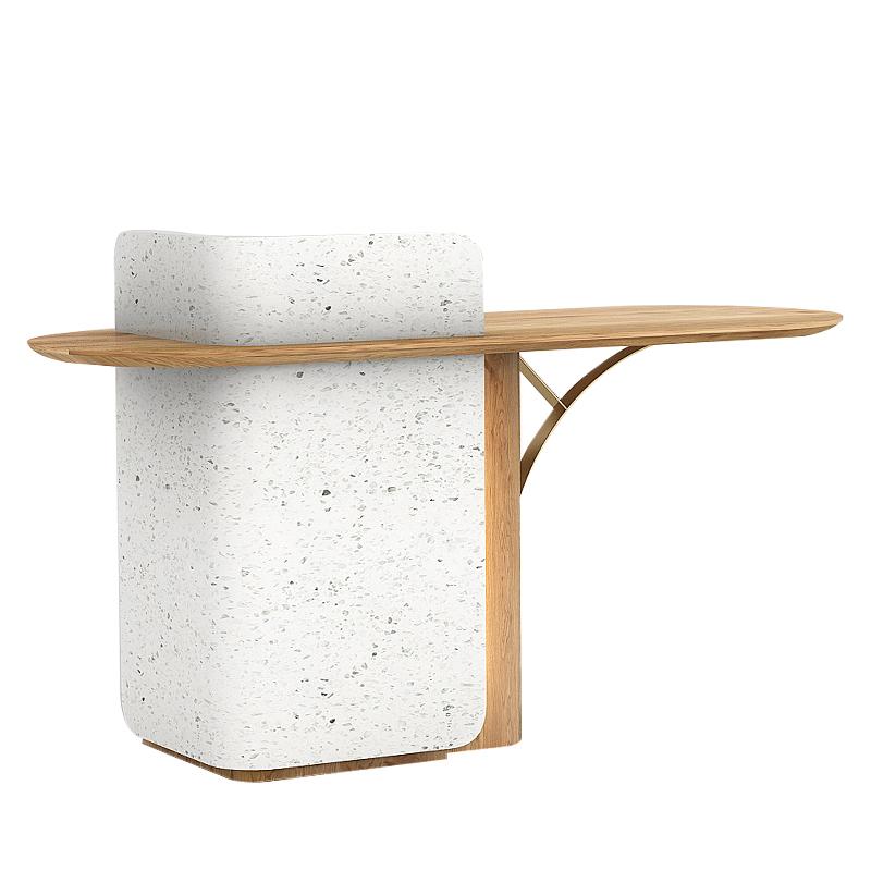 D4 网红吧台柜商用北欧风格收银台公司接待台小型前台桌 ZJF 众匠坊