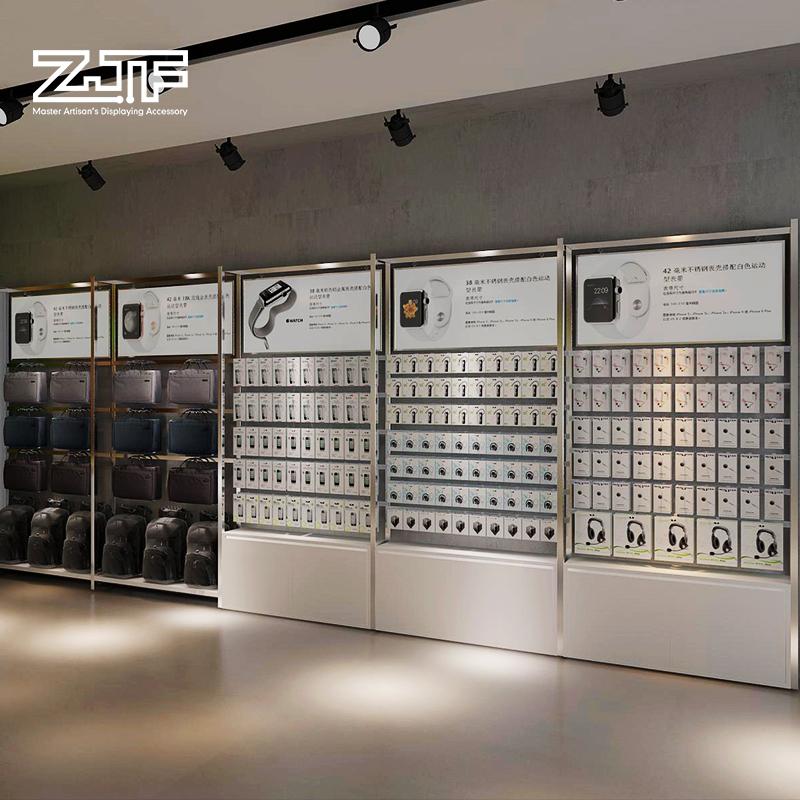 众匠坊ZJF 数码店设计方案苹果华为小米体验桌手机配件柜台陈列柜