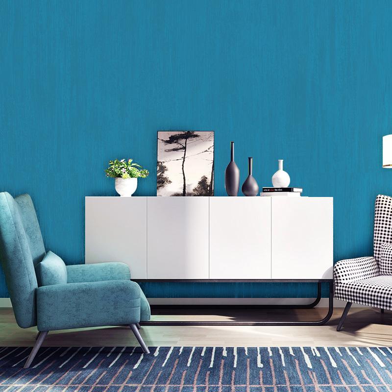 蓝色墙纸 风格灰色浅绿色卧室纯色素色现代简约 ins 地中海壁纸北欧