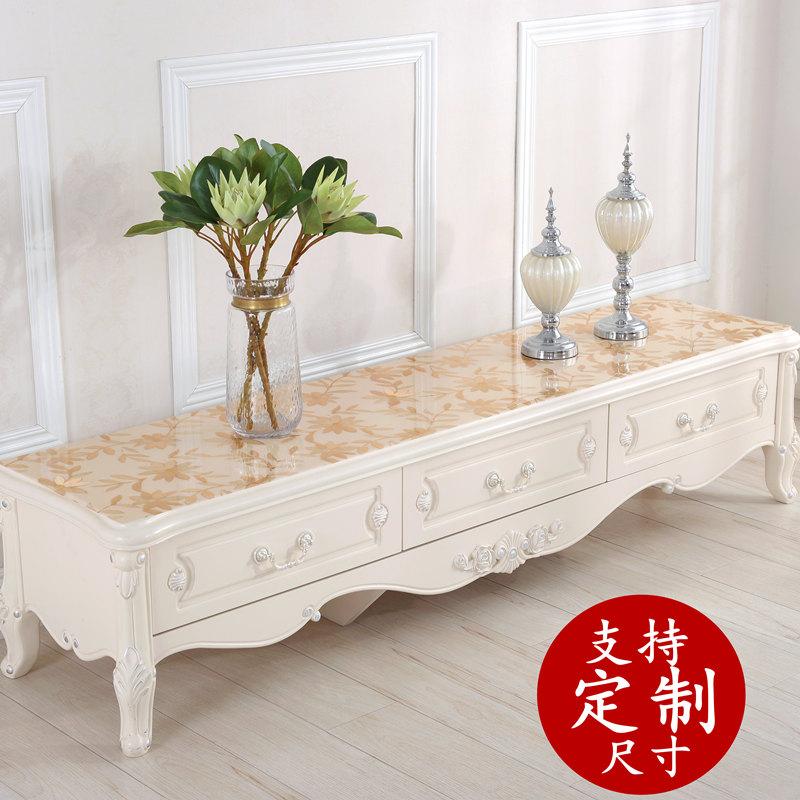 PVC防水鞋柜床头柜餐桌垫茶几垫水晶板电视柜桌布 垫 台布欧式