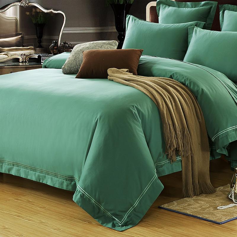 床 1.8 床 1.5 支纯棉贡缎刺绣四件套双人床 80 高品质高支高密 处理