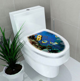 Buy 2 get 1 free toilet seat decorative stickers creative stickers cute funny cartoon stickers toilet waterproof antifouling stickers