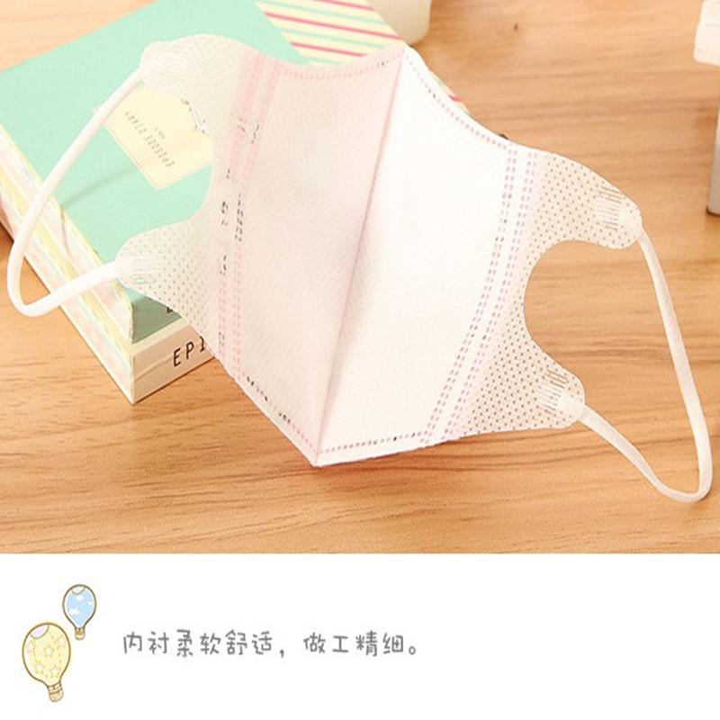 一次性儿童口罩小中童防尘口罩幼儿园宝宝三层防灰防尘口罩10只装