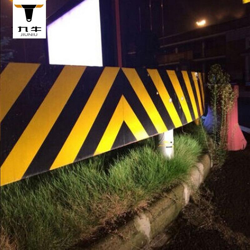 红白反光胶带黄黑斜纹5cm反光标识贴警戒反光条反光膜线地板胶带