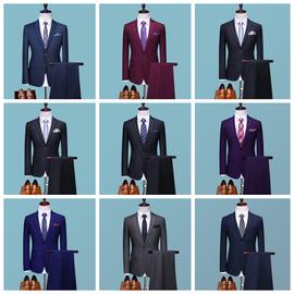 西服套装男士外套职业正装结婚新郎伴郎服韩版修身商务休闲小西装
