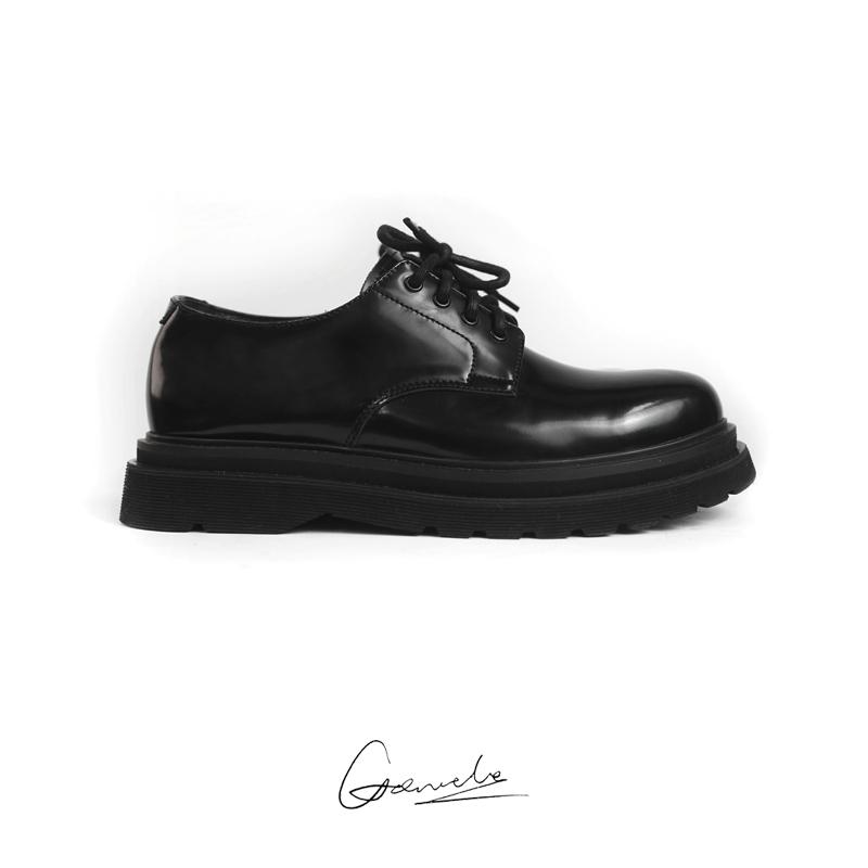 3.5CM 增高 潮流皮鞋 derby 进口小牛皮双层底 VIBE GREMADE
