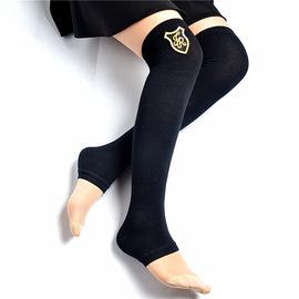 新款水兵舞袜套针织毛线过膝踩脚套时尚烫钻铆钉护膝靴套保暖袜套
