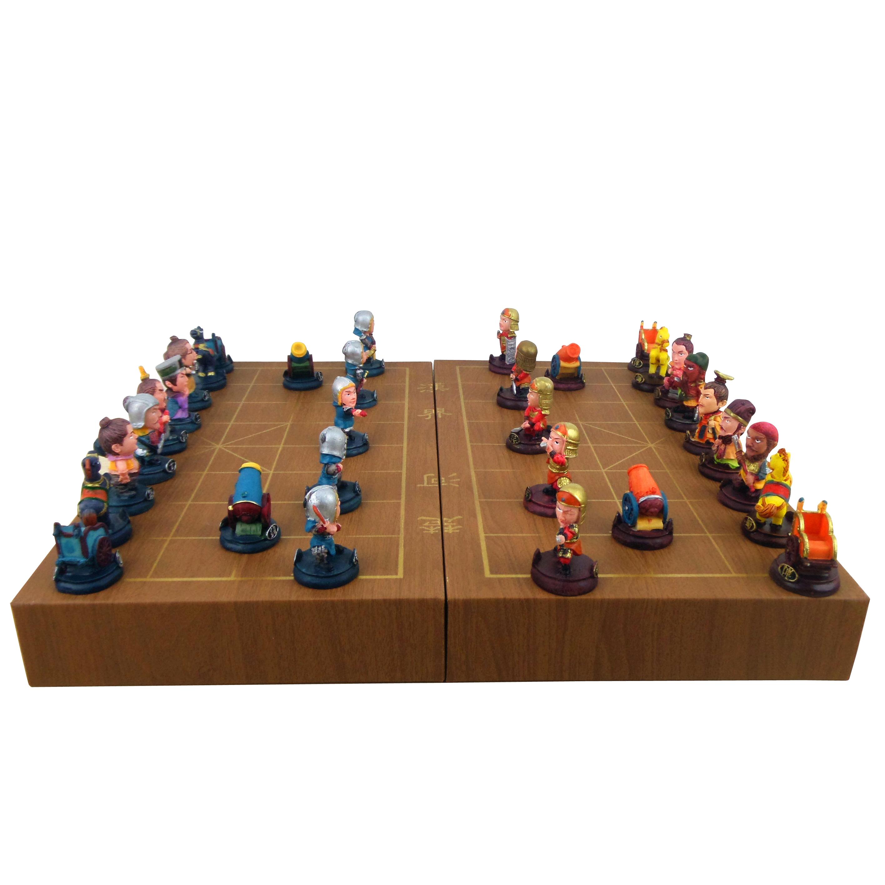 三国人物立体象棋趣味中国象棋送小朋友益智动手玩具创意生日礼物