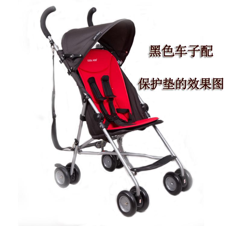 COOLKIDS婴儿车坐垫婴儿推车餐桌椅背部贴合保护垫宝宝防驼垫
