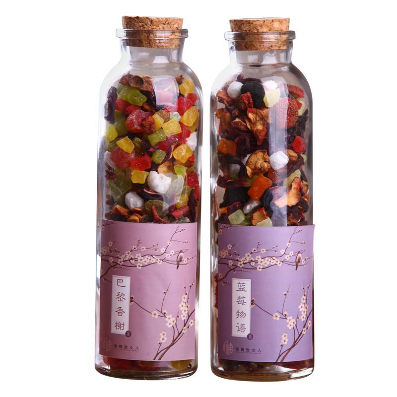巴黎香榭蓝莓物语水果茶新鲜果干手工果粒茶花果茶花茶礼盒 1 送 1 买