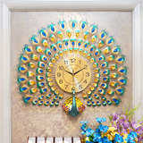 Love makeup clock hanging clock living room creative fashion peacock hanging performance generation simple atmospheric clock silent decoration clock