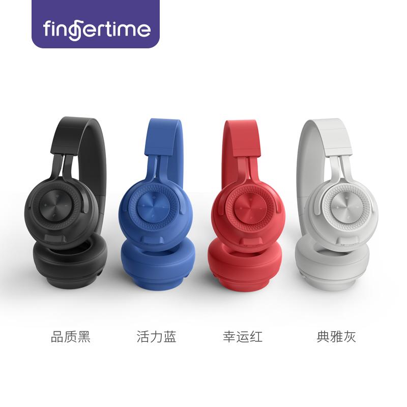 无线蓝牙耳机家用健身手机头戴式运动型跑步户外通用双耳苹果耳麦音乐全包耳重低音可接听电话 P1 FINGERTIME