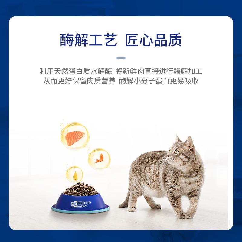 蓝氏酶解无谷猫粮成猫猫粮幼猫八种鱼猫咪主粮营养增肥发腮2.26kg优惠券