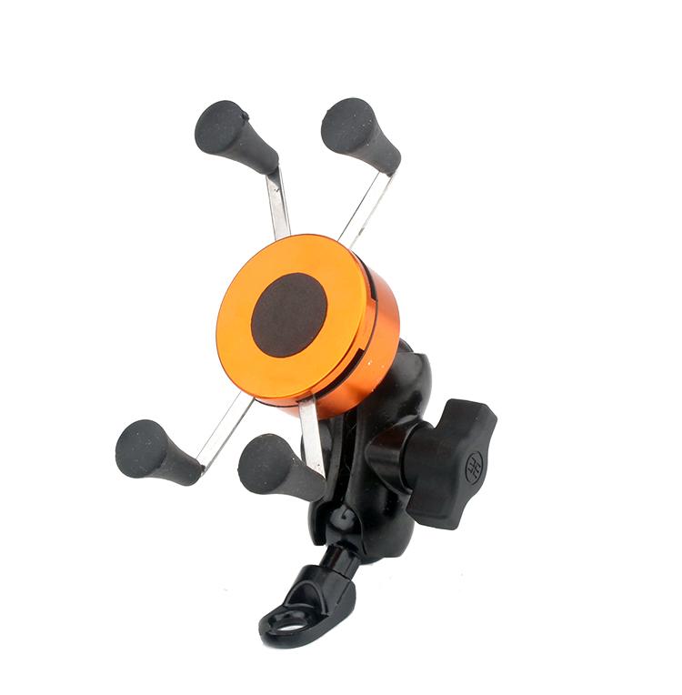 摩托车踏板车单车手机支架小米苹果5S6寸三星手机金属一体导航GPS