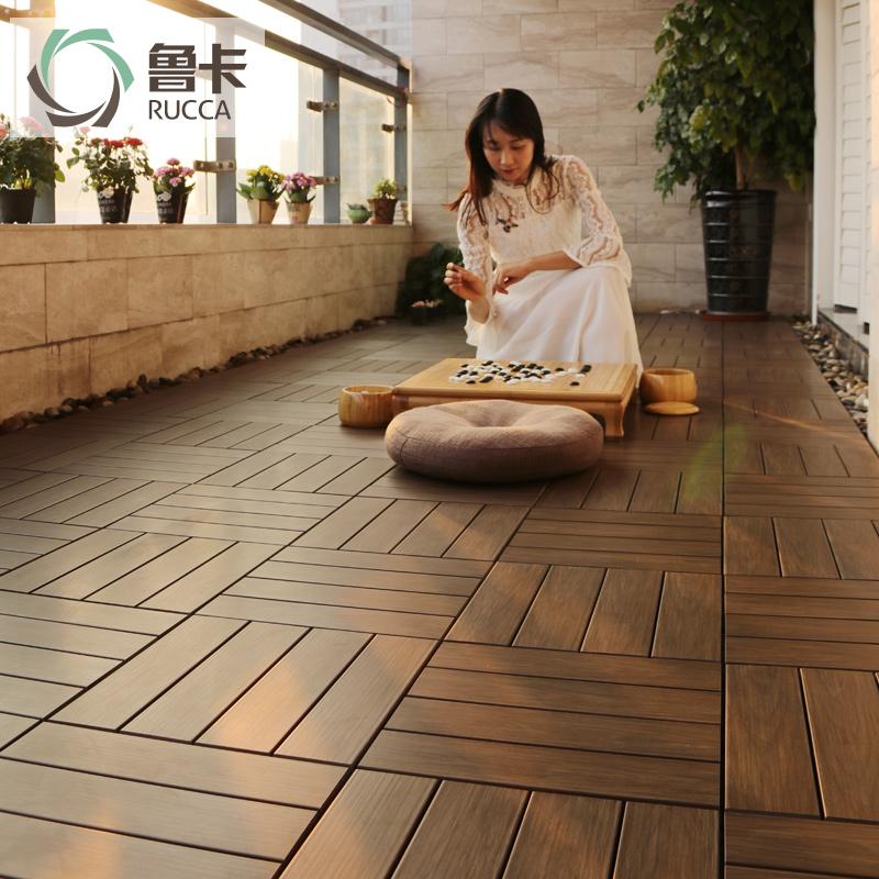 生态木户外木地板塑木地板花园露台阳台地板防腐实木地板diy地板
