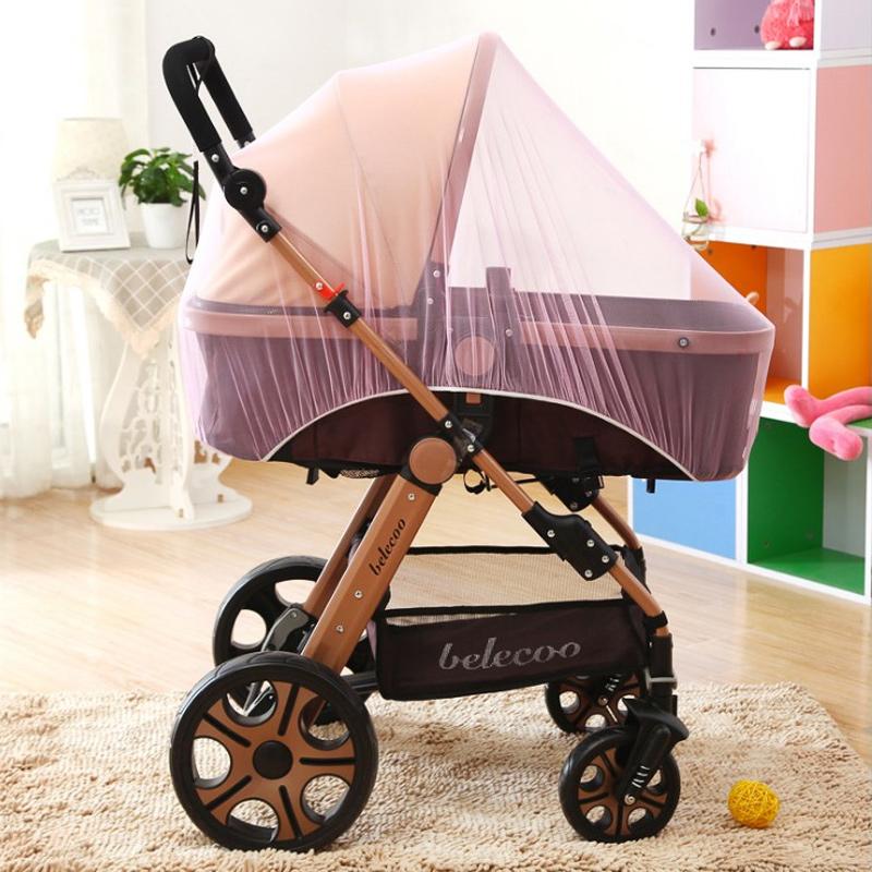 婴儿手推车蚊帐宝宝全罩式通用防风防蚊罩儿童夏季bb伞车加大加密