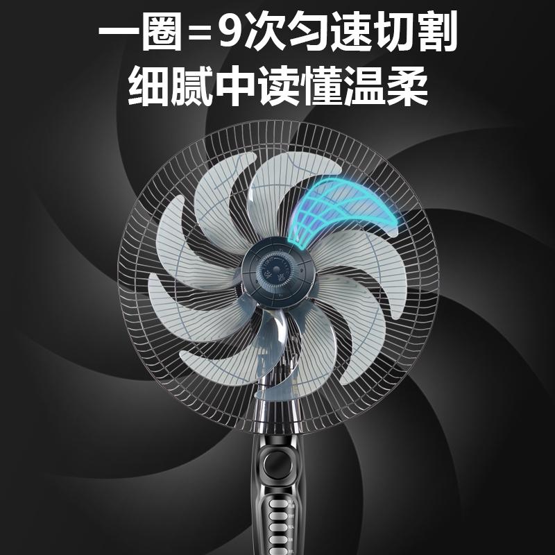 万宝电风扇落地扇家用静音立式摇头工业电扇强力遥控大风力办公 No.1