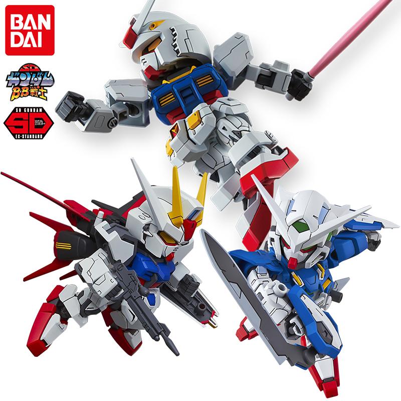 万代Q版高达拼装模型 SDEX 空战强袭自由独角兽飞翼零式红异端00