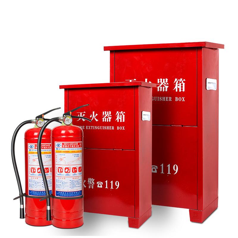 不锈钢灭火器箱子2只装消防箱家用店用商用工厂车间4公斤5kg8kg
