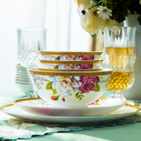 Free with cutlery Jingdezhen bone china dinner dish dishes household microwave oven can be a combination of Chinese suit