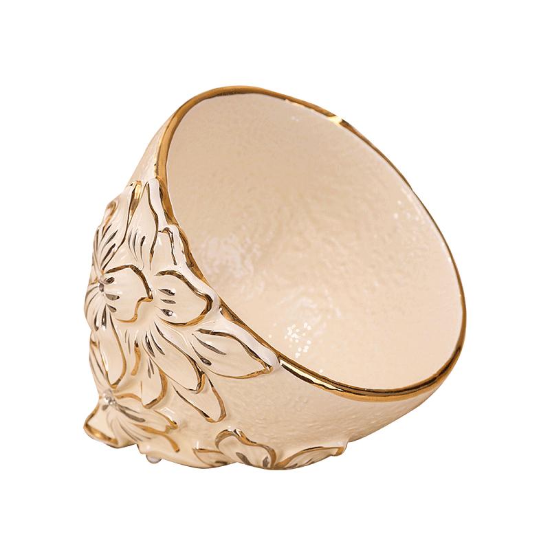 圣路堡欧式果皮碗创意陶瓷水果碗客厅茶几装饰品果皮碗包邮
